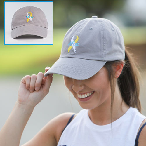 Gray Adult ACCC Hat.